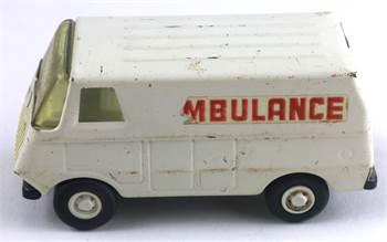 Tonka Toys Steel White Painted Ambulance c. 1970s, Number 55360