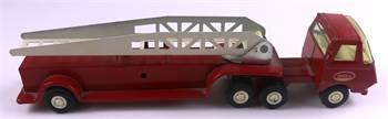 Tiny Tonka Red Aerial Ladder Truck, c. 1974