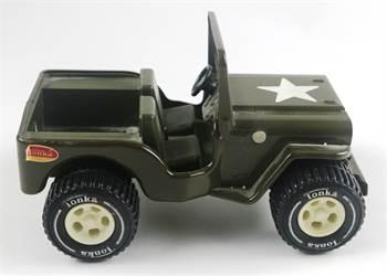 Tonka Toys Green Army Jeep, c. 1974, Near Mint