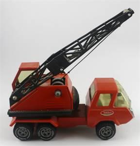 Mini-Tonka Orange Crane Truck, Number 1099, 1973, Near Mint