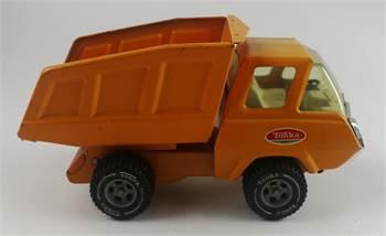 Tonka Toys Orange Mini Hoot 'N Hauler Dump Truck, c. 1972