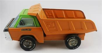 Nylint Orange and Green Dump Truck, c. 1975, Great Condition
